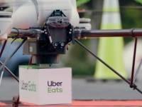 Uber Eats realiza testes de entrega de comida com drones